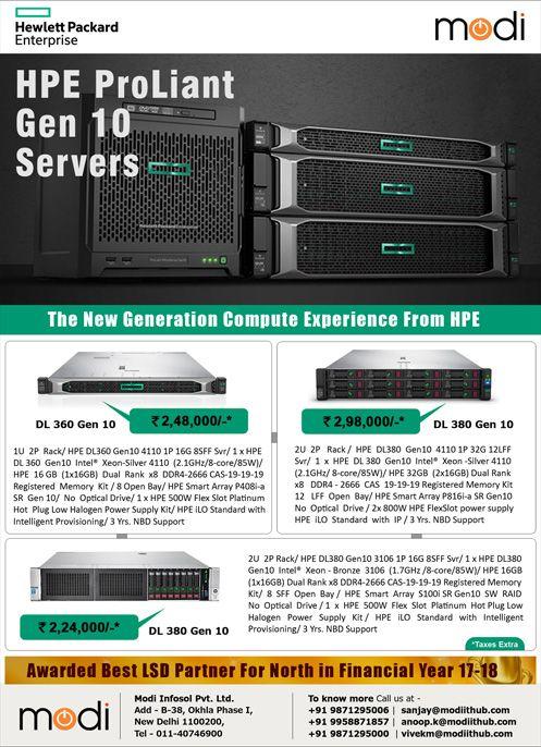HPE ProLiant Gen10 Servers  | HPE Server | Archive