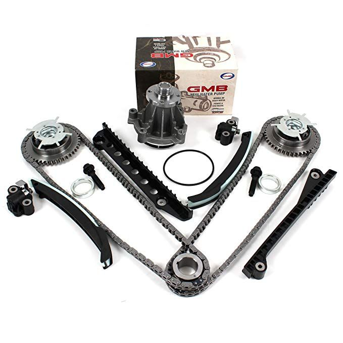 Tk3060 Vvtwp Timing Chain Kit With Updated Style Tensioners Camshaft Phasers Bolts Left Right Water Pump Set M30 Lincoln Mark Lt Water Pumps Ford