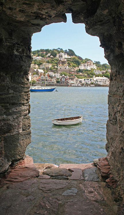 Dartmouth, Devon, England, UK. It looks like a TARDIS crashed through this wall...
