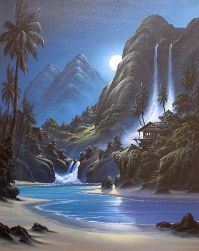 Twin Falls by Scott Munzig #surfart #scottmunzig