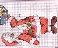 Ιδέες για χειροποίητες Χριστουγεννιάτικες κάλτσες - Cross stitching Christmas socks ~ Mama from Greece