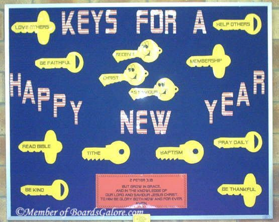 Keys for a Happy New Year. | Classroom and Bulletin Board ...