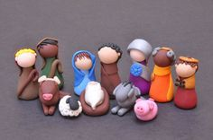 making clay nativity figures - Google Search