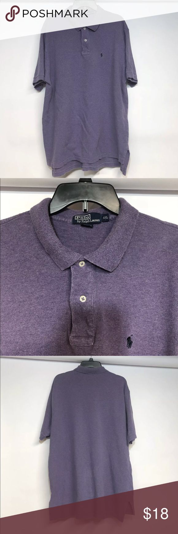 """Polo Ralph Lauren Size XXL Polo Purple Casual Thanks for stopping by at OneManlyShop!!!  Item: Polo Ralph Lauren Men's Size XXL Polo Purple Short Sleeve Casual   Condition: In good used condition.   Please refer to images for more details about this item. If you have any questions please feel free to ask. All measurements are taken with the item laying and are approximate.  Armpit to Armpit: 26""""  Shoulder to Hem: 32"""" Polo by Ralph Lauren Shirts Tees - Short Sleeve"""