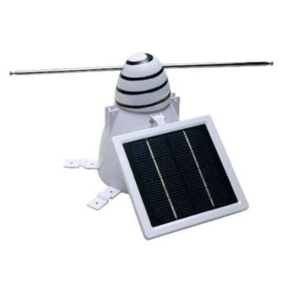 Solar Bird Repeller – Physical bird deterrent uses continuous motion to prevent birds & pigeons from landing with telescopic arms covering 5 ft. diameter