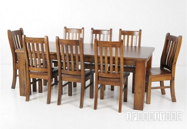 Bargain - $959 (was $1299) - FEDERATION Rustic Dining Set Series - 7PC @ I Furniture