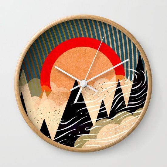 Nature by Dardanlmeri, $30. https://society6.com/product/nature-v7r_wall-clock?curator=bestreeartdesigns