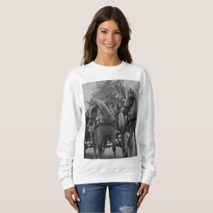 Salzburg Fiaker Horses Sweatshirt - black gifts unique cool diy customize personalize