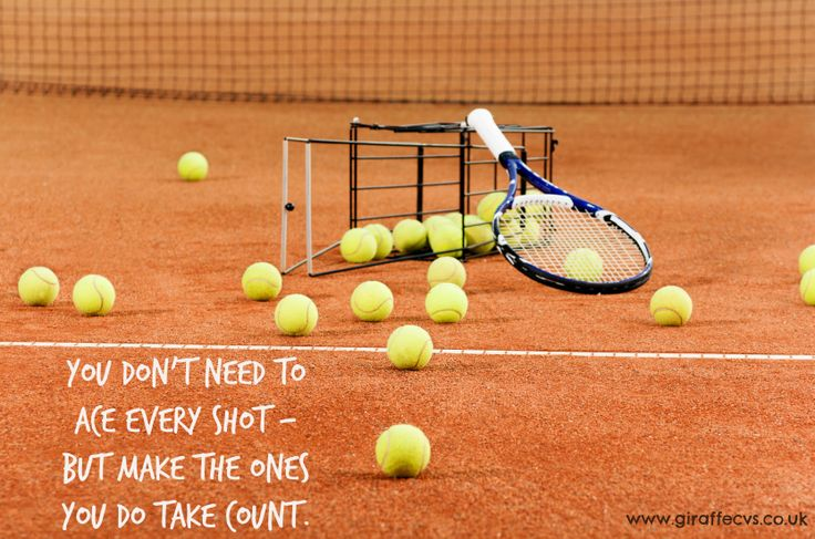 You don't need to ace every shot, but make the ones you do take count. #Wimbledon2014