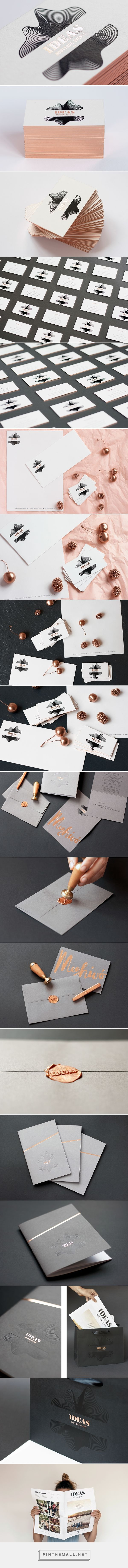 IDEAS Boutique Events brand identity on Behance // by Diana Ghyczy, Absoloot, & Nora Lugosi