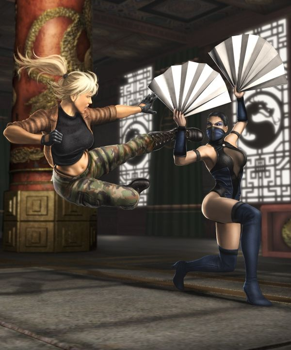 Sonya VS Kitana Mortal Kombat Shaolin Monks