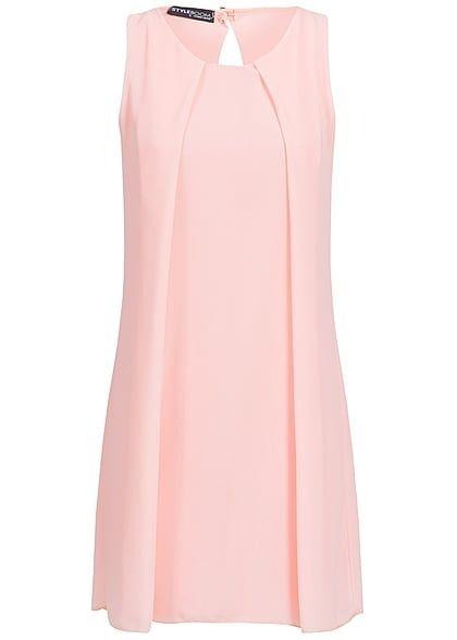 1f6b9233dc9a59 Styleboom Fashion Damen Chiffon Kleid Rückenausschnitt rosa ...