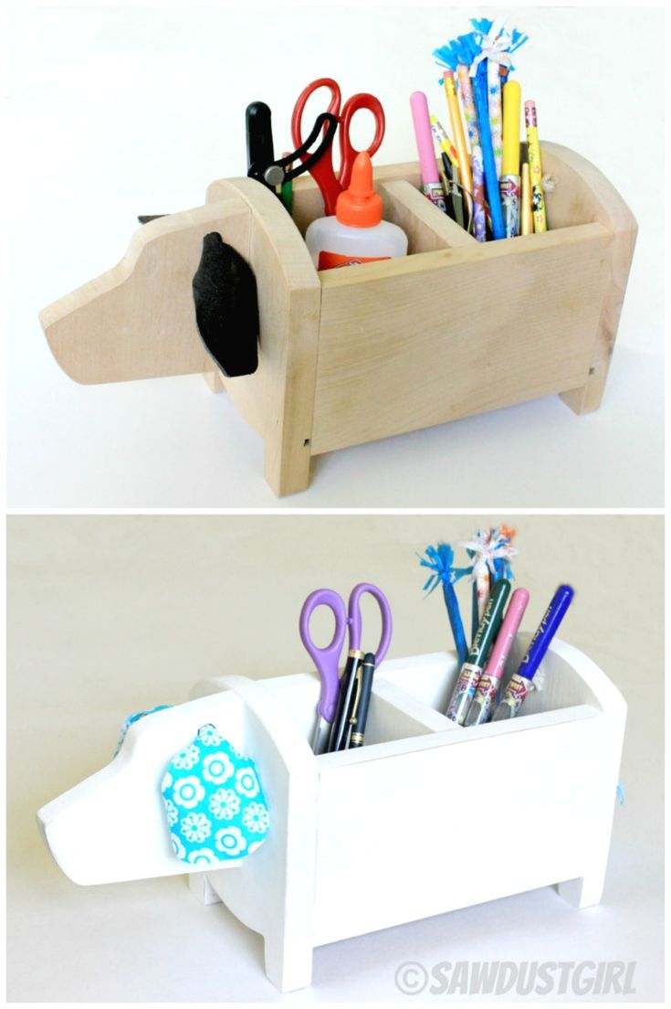 DIY Dog Caddy - want one for desk at school and one for sewing room desk.  Too…