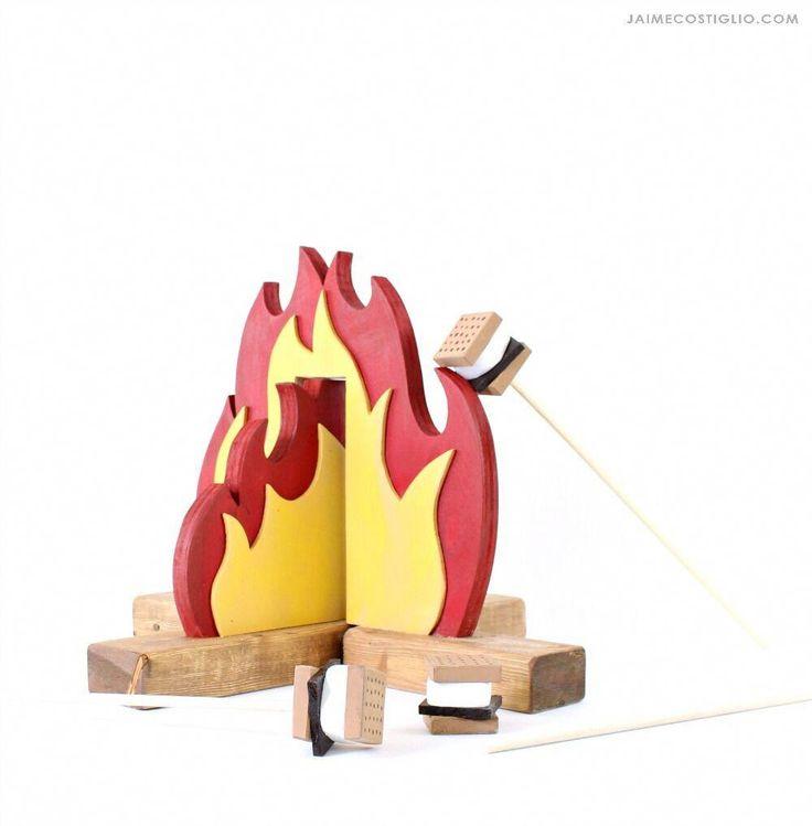 Stell dir vor, du spielst das Lagerfeuer-Set #WoodworkingProjectsForGirls