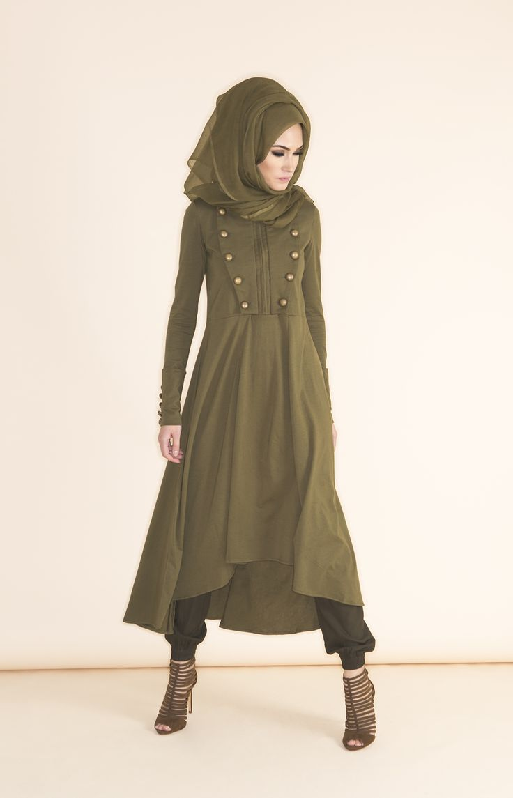 Hijab Fashion 2016/2017: Charreteras Midi Khaki  Available online www.aabcollection & at our Flagship Boutique in London x Shop the Spring 2015 Collection & More! #aablondon #aabcollection #aabnewarrivals #Aabflagshipstore #boutique #khaki #SS15 #modestwear #modestbyhautearabia  Hijab Fashion 2016/2017: Sélection de looks tendances spécial voilées Look Descreption Charreteras Midi Khaki - Available online www.aabcollection & at our Flagship Boutique in London x Shop the Spring 2015…