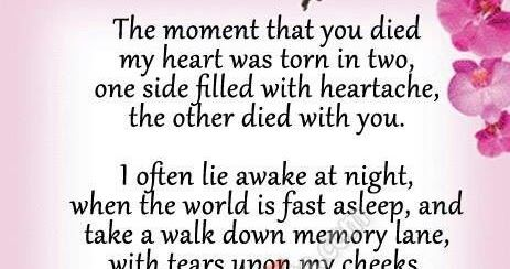 Missing mom, Mom in heaven poems quotes from daughter son