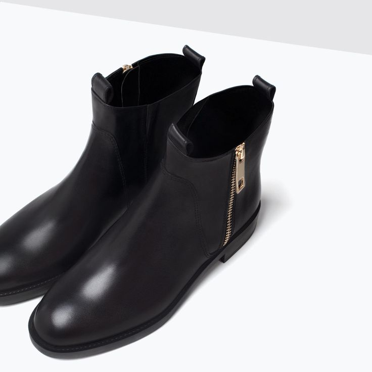 BASIC LEATHER ANKLE BOOTS from Zara Ref. 3107/001 999,900 IDR Height of heel
