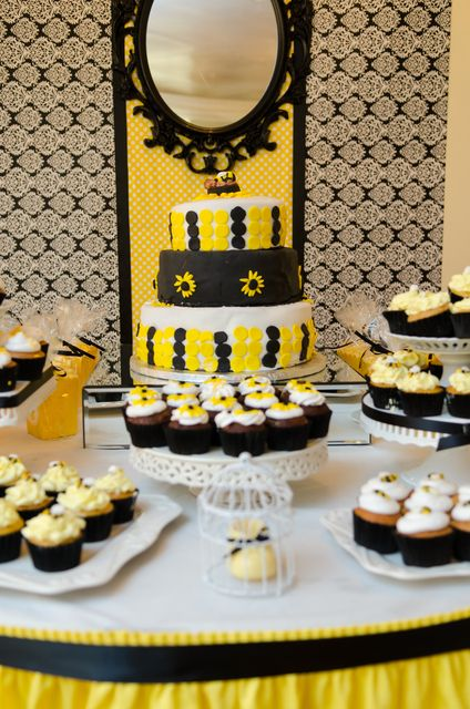 bumble bee baby shower party see more party ideas at