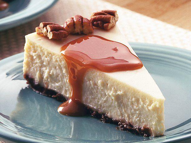 Healthified Creamy Vanilla-Caramel Cheesecake