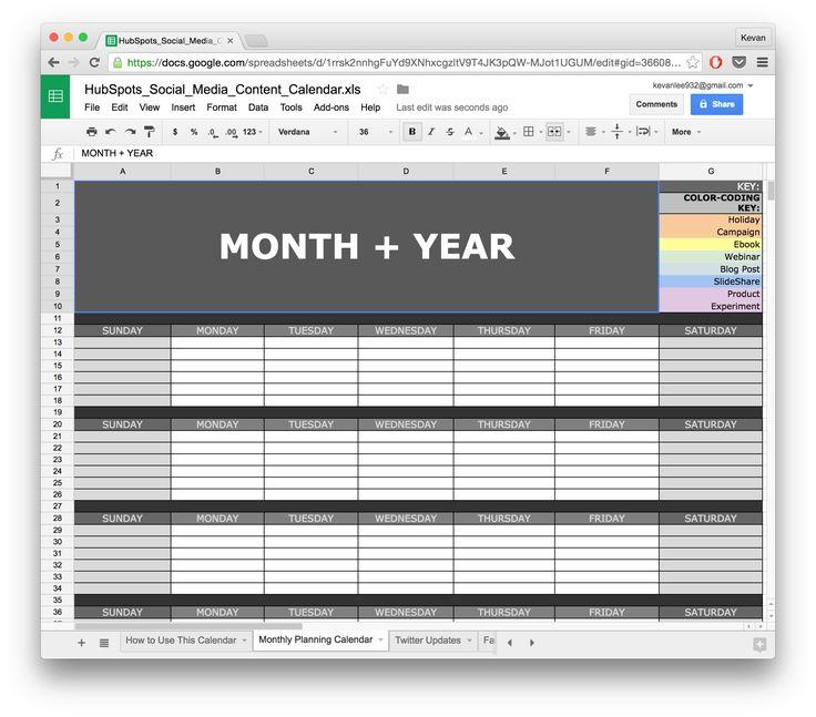 The  Best Social Media Calendar Template Ideas On