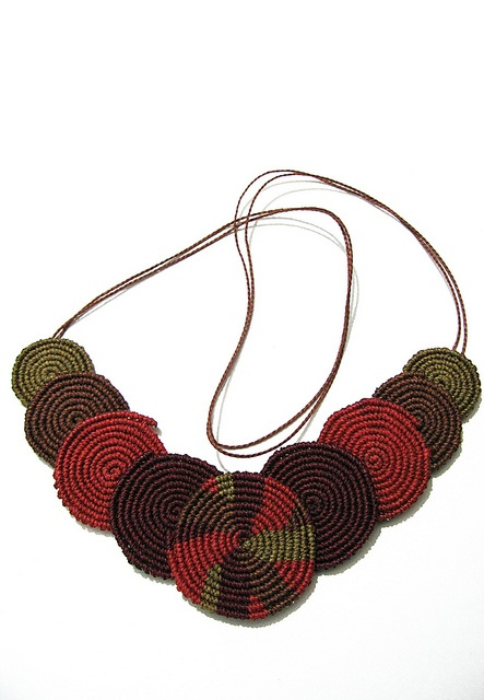 IMG_9101 by Freckles_, via Flickr.collar macrame