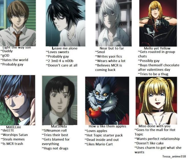Tag Yourself Meme Death Note I M How Do You Like Them Apples In