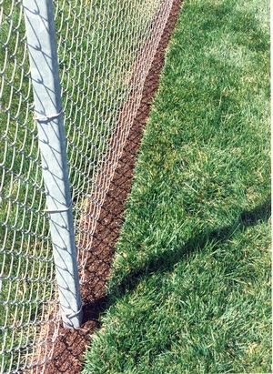 rubber mulch for fence line