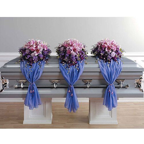 JHS038-11-Casket Spray with Fabric Drape