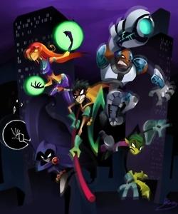 Modern Art Teen Titans