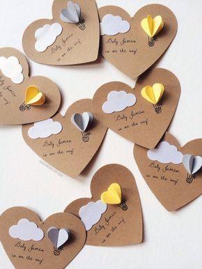 Corazón de aire caliente globo regalo etiquetas juego de 12 – #aire #caliente #…