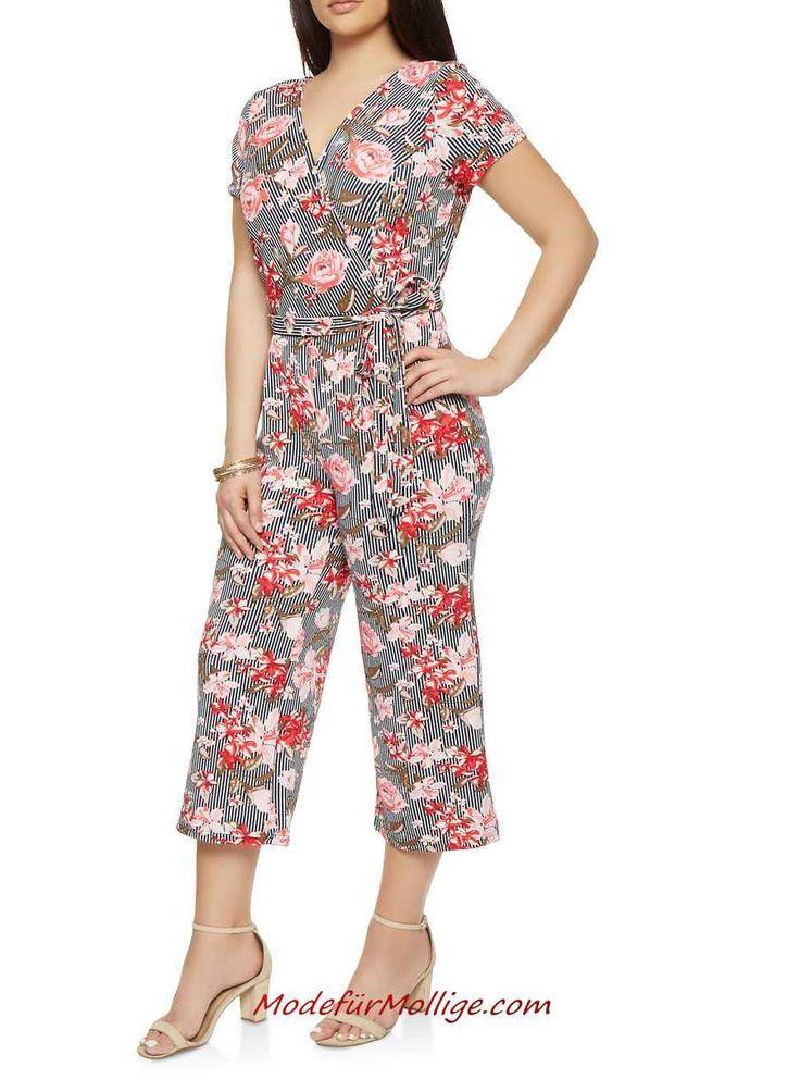 Bedruckter Capri Jumpsuit für Mollige Frauen #dam…