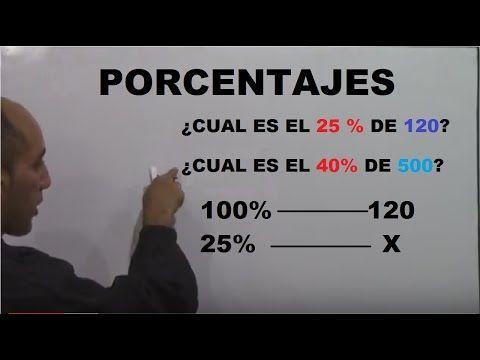 Porcentajes con regla de tres - Como calcular el tanto % de un número - YouTube