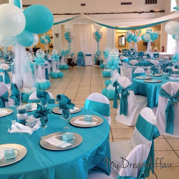 14 best twins co babyshower tiffany co inspired for Baby shower decoration ideas for twins