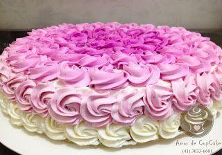 Amor de CupCake: Bolos rosas
