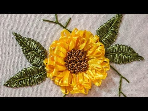 Embroidery Designs | DIY Ribbon Flower | HandiWorks #71 - YouTube