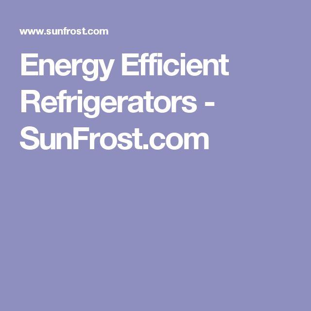 Energy Efficient Refrigerators - SunFrost.com