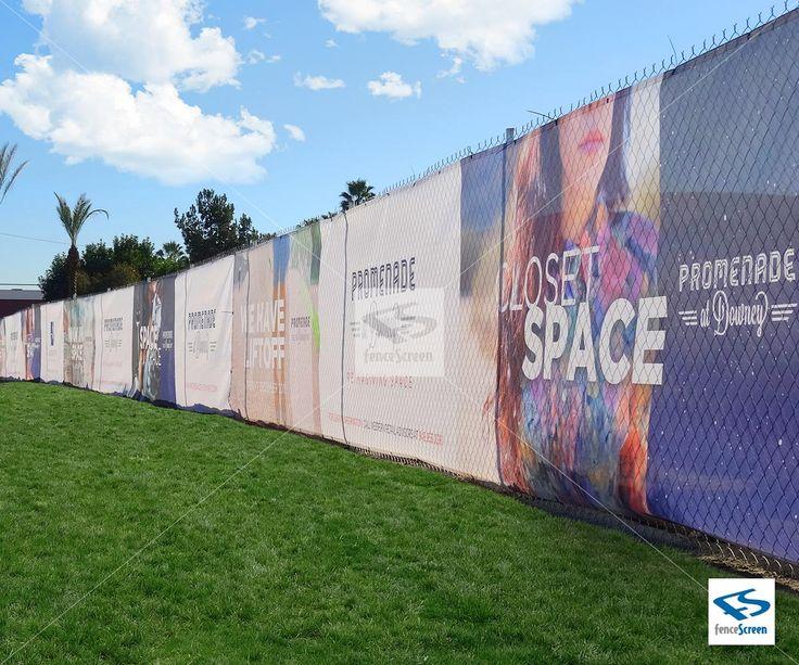 Custom Printed Fence Screen on PVC Mesh Banner or Vinyl