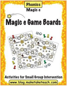 Free Magic e game boards. Great for centers!