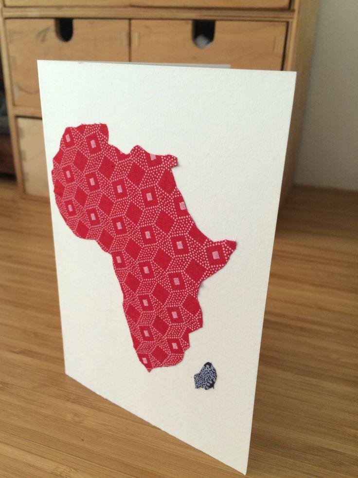 Shweshwe Africa card. Saturday project