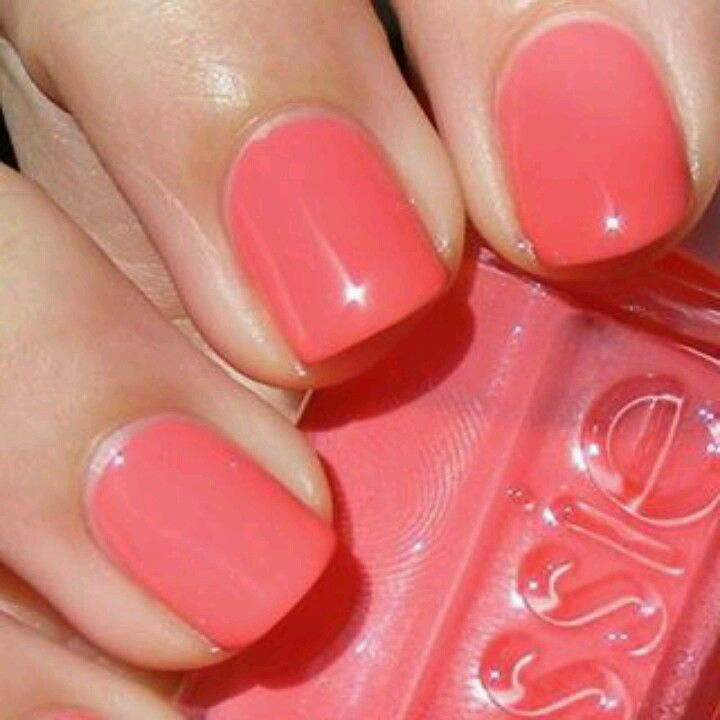 Melon color finger nail polish | My Style | Pinterest