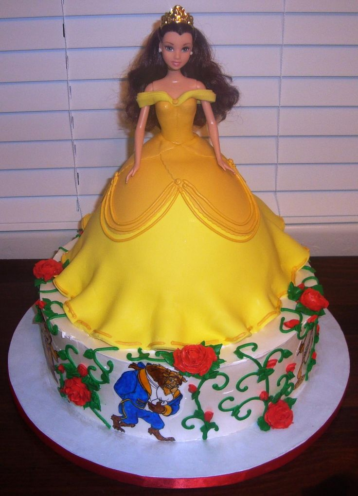 Princess Belle Beauty And The Beast Cake Sweets