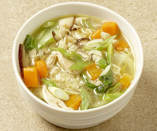Chicken Noodle Soup with Baby Bok Choy and Shiitake recipe