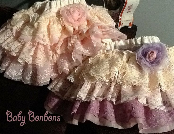 Flower Girls Custom Vintage Lace Ruffled skirts for by Babybonbons, $69.00
