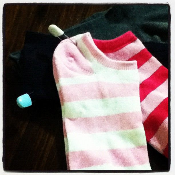 Safety pin socks together with big diaper pins before throwing them into the wash and you'll never lose a pair!  For ultra organization give each family member a different color pin.  This works especially well for those tiny baby socks!