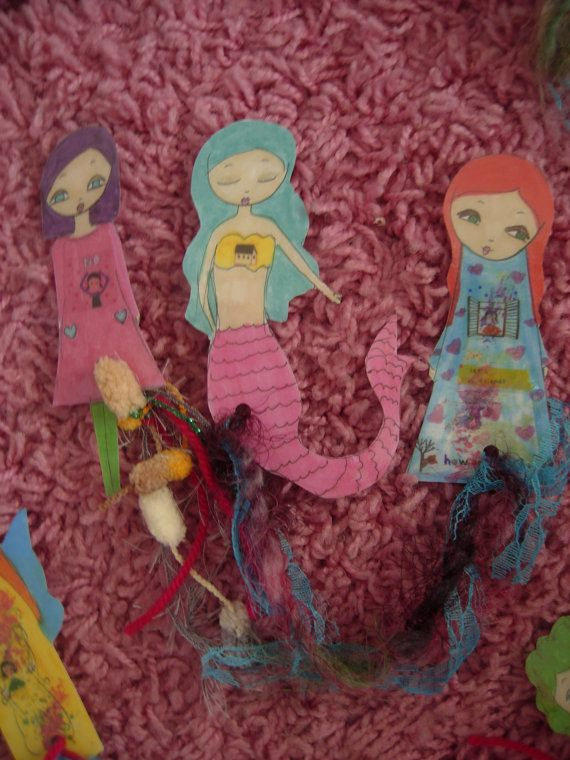 Paper Dolls Laminated Bookmarks with ribbonsno 5New by eltsamp, $15.00