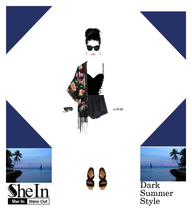 """""""Dark Summer Style Ft SheIn"""" by eboneeyg ❤ liked on Polyvore featuring Agent Provocateur, Office and LULUS"""
