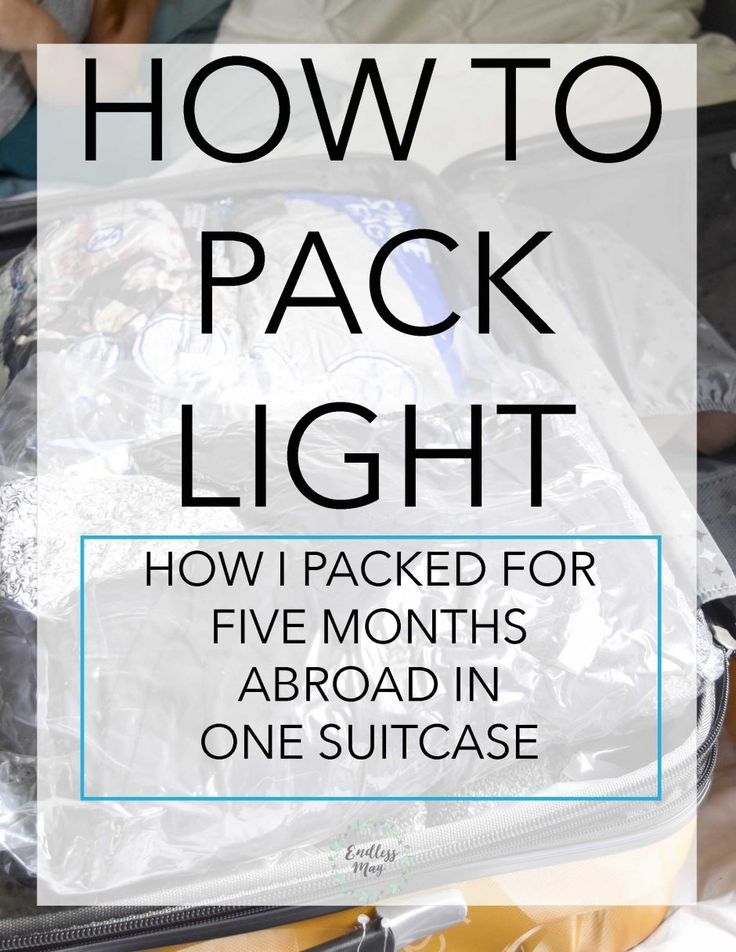 Packing for five months abroad in one suitcase! Especially helpful for study…