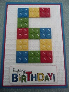 stampin up lego card - Google Search