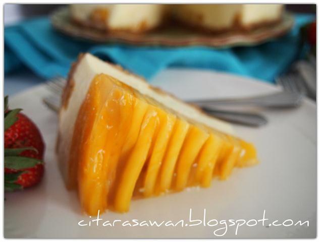 recipe: resepi kek mango cheese leleh [11]
