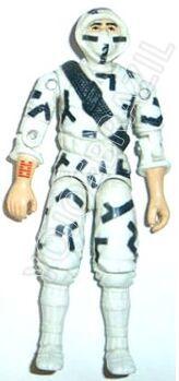 Descrição:   O Comando Especial Ninja (Dragão Branco) foi lançado no Brasil em 1992 (Série 9) pela companhia de Brinquedos Estrela, a figura corresponde ao modelo swivel arm (com movimento nos cotovelos). Trata-se da versão nacional do Ninja [Storm Shadow] fabricado em 1988 pela Hasbro pela série G.I. JOE.  Aqui no Brasil o Comando Especial Ninja (Dragão Branco) foi lançado como um Comandos em Ação e não como um Cobra Inimigo na versão original.